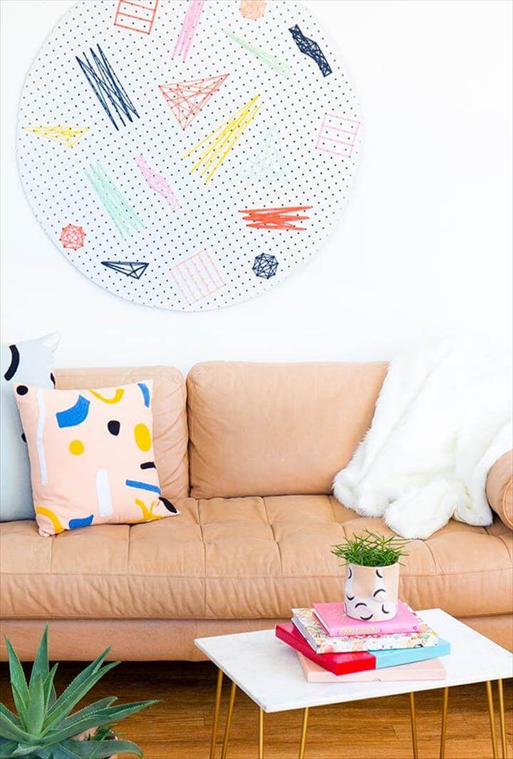 DIY Pegboard Wall Art