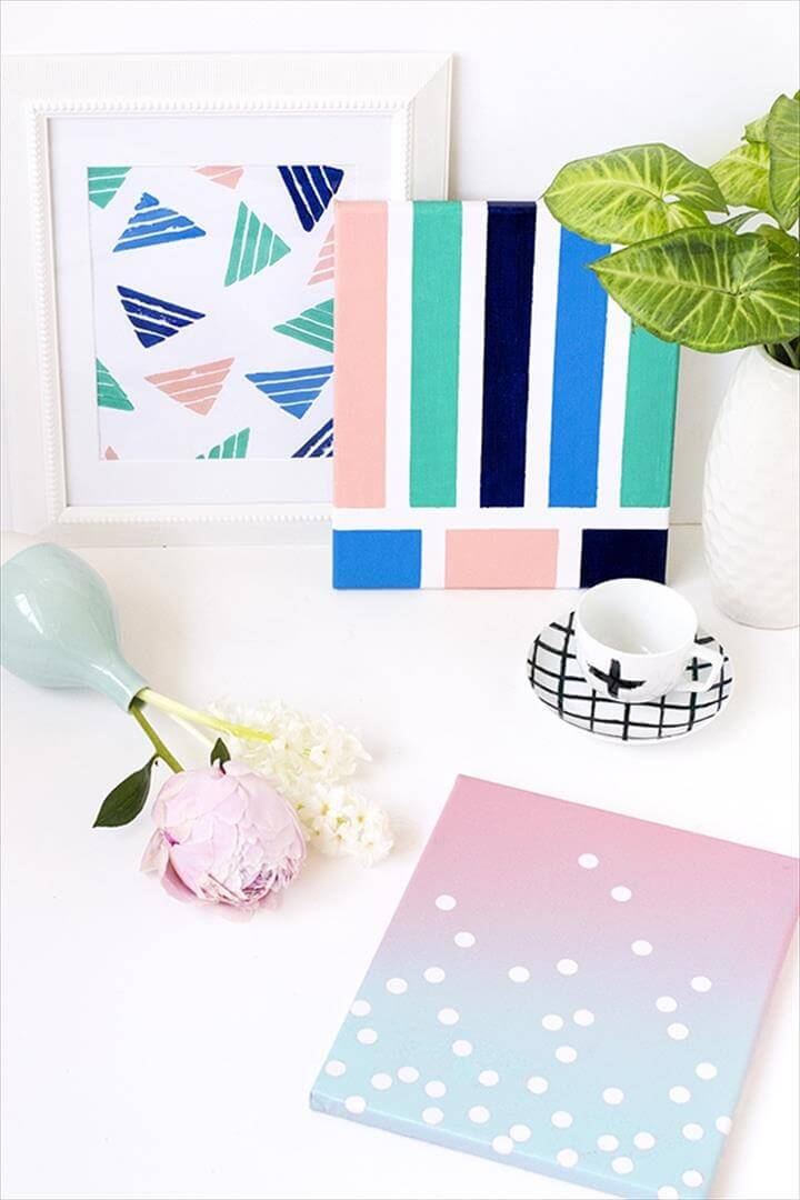 4 Super Simple DIY Wall Art Ideas