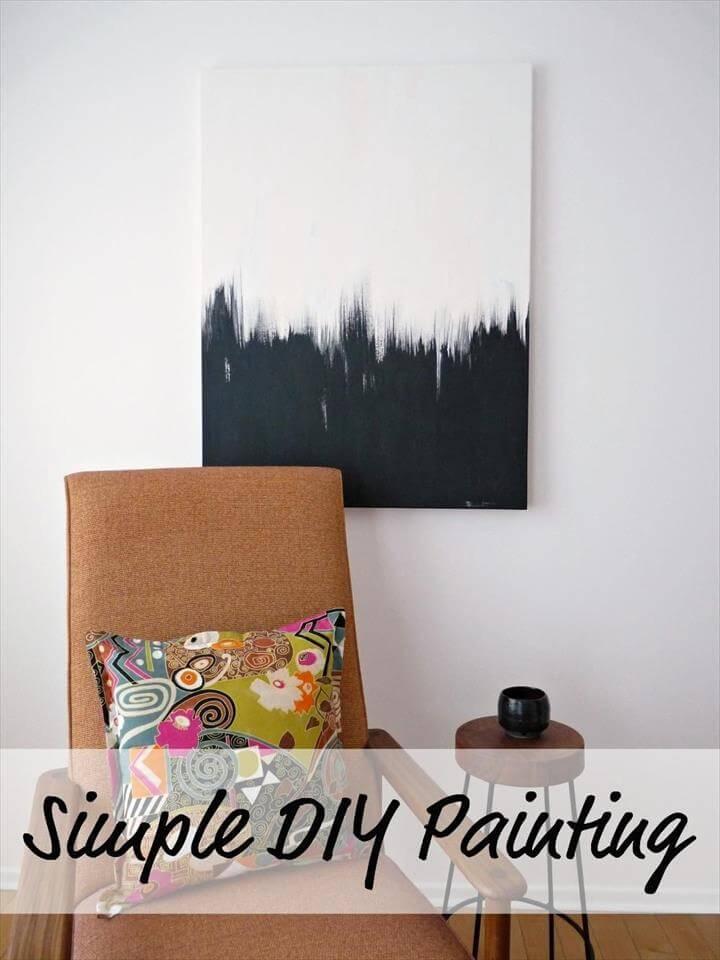 DIY Wall Art: Simple But Striking DIY Black and White Wall Art Painting