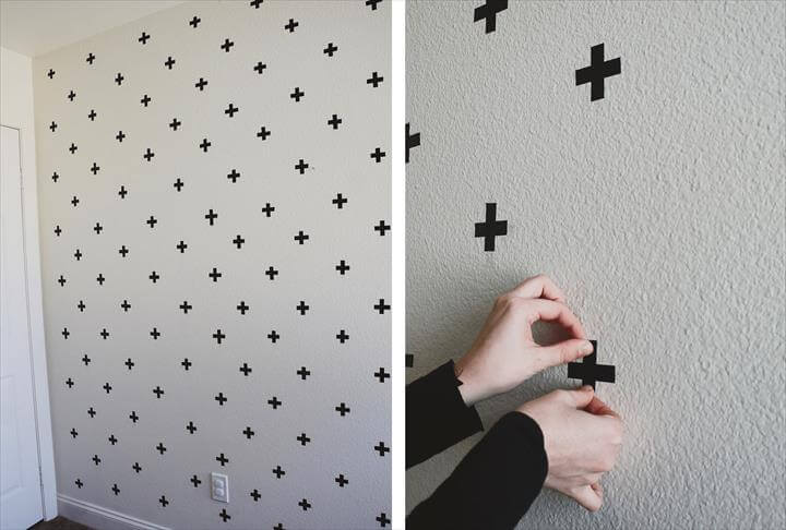 Washi Tape Decals. tape wall pattern