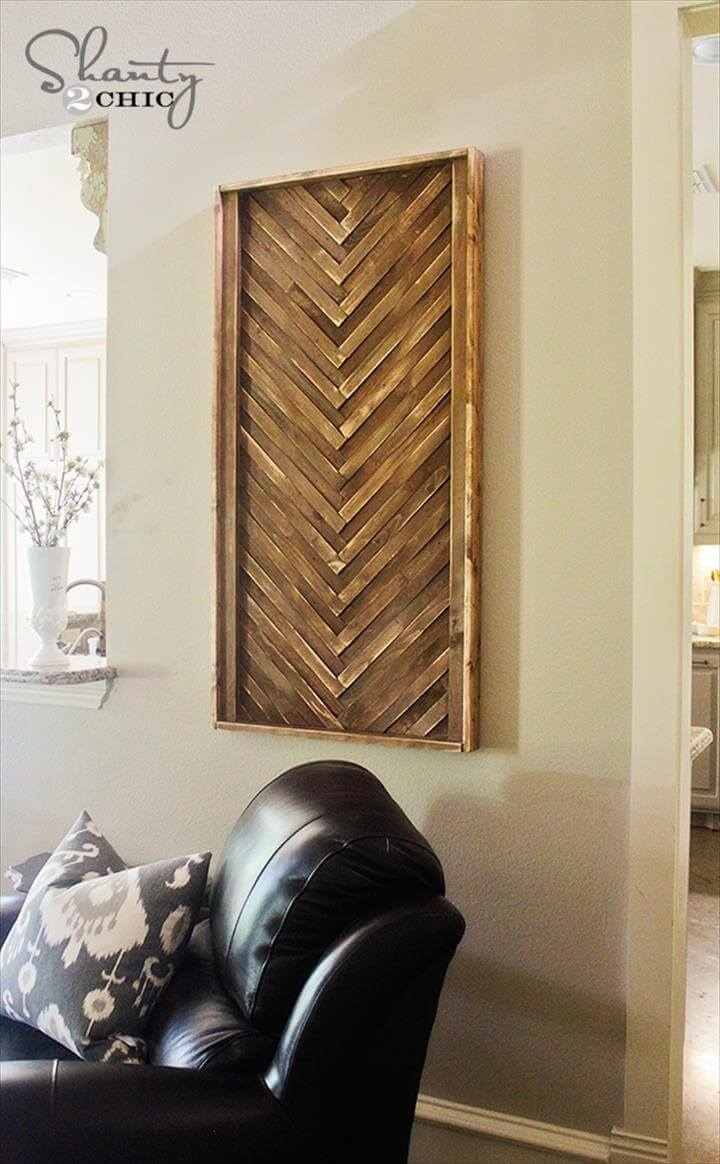 DIY Wall Art from Wood Shims