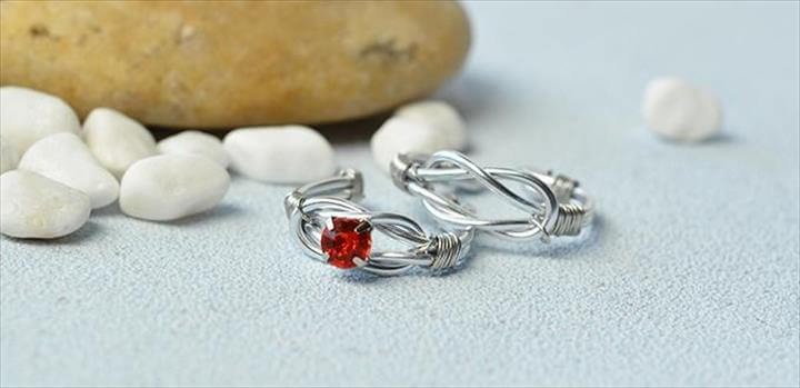 Handmade Wire Wrapped Couple Rings
