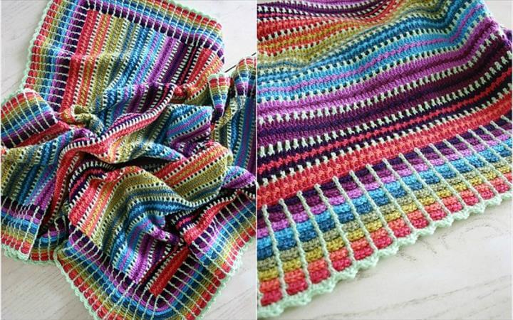 Easy and Funny Skittles Crochet Blanket