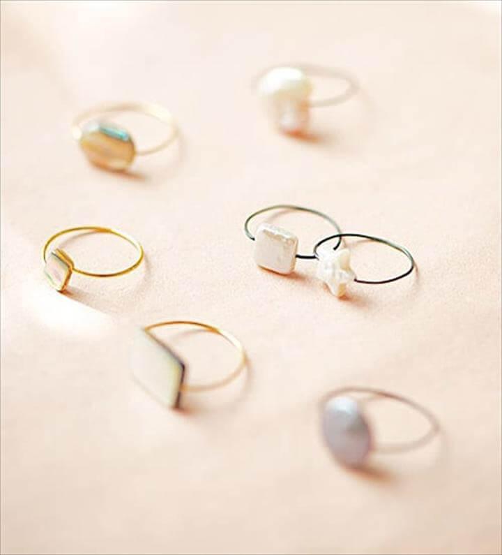 Filigran Wire Rings - simple diy rings