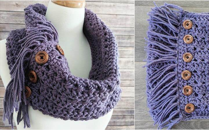 [Free Pattern] Textured Woodland Crochet Cowl