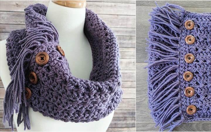 [Free Pattern] Textured Woodland Crochet Cowl