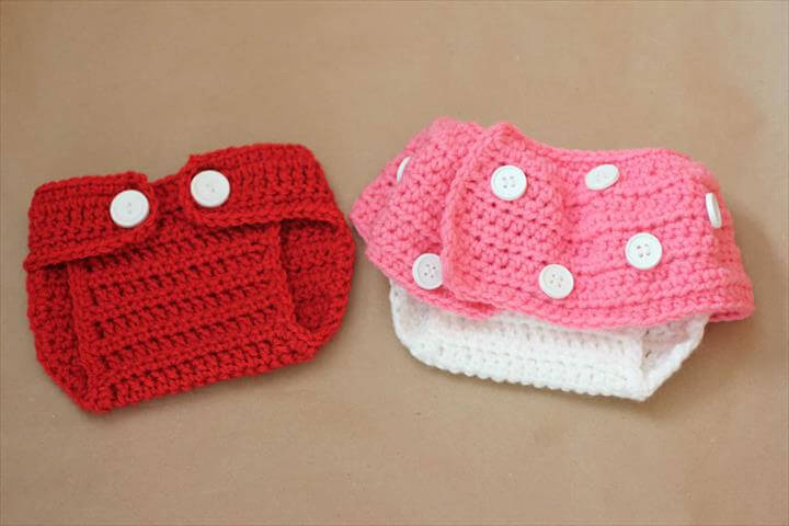 Mickey and Minnie Inspired Crochet Diaper Covers