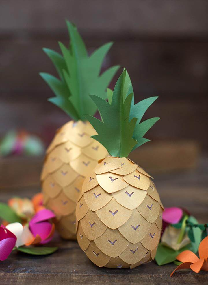 DIY Pineapple Party Decor