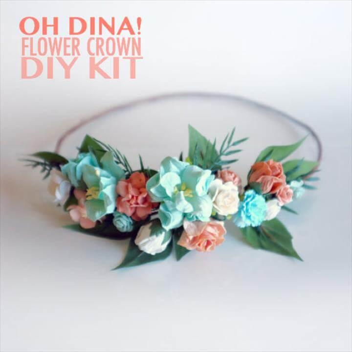 Peach & Mint DIY Flower Crown Kit