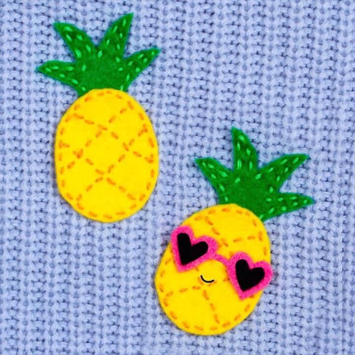 Diy Pineapple Brooch Sewing Craft