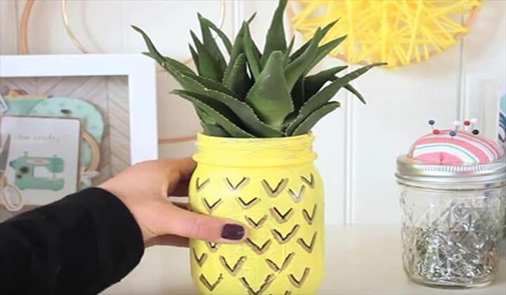 Cutest Mason Jar Planter