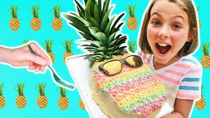 Rainbow Pineapple Cake Chef
