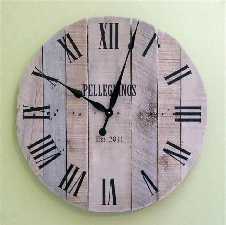 wall clock wall clock large pallet clock reclaimed wood wall clock rustic wood clock pallet large wall clock 36 inch diameter wall clock.