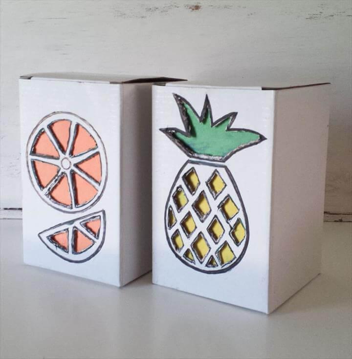 tropical fruit box diy