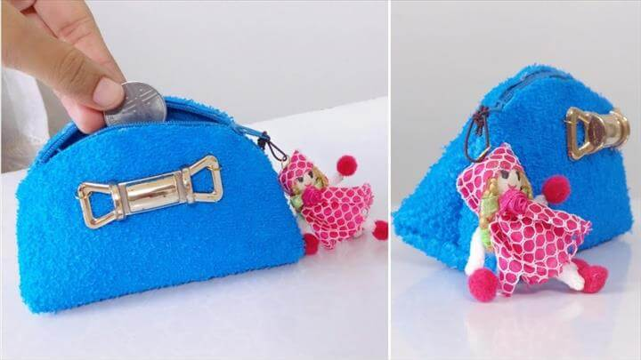 Coin Purse In Two Mints - No Sew - DIY Coin Purse
