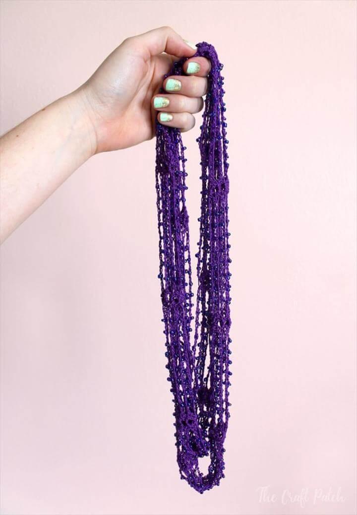 A cute crocheted accessory using Aunt Lydia's crochet thread
