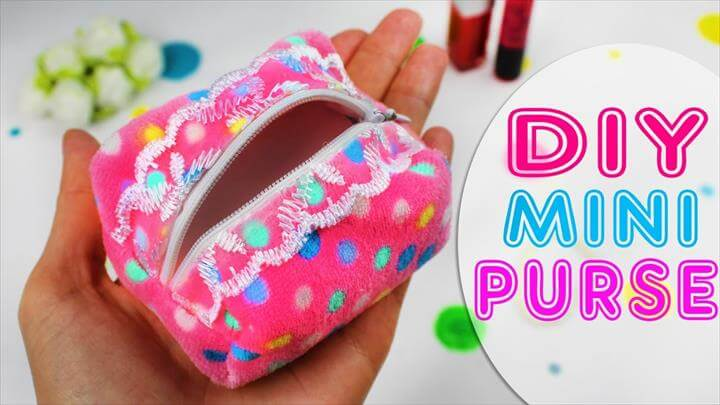 DIY Useful Mini Coins POUCH PURSE BAG [from scratch EASY]