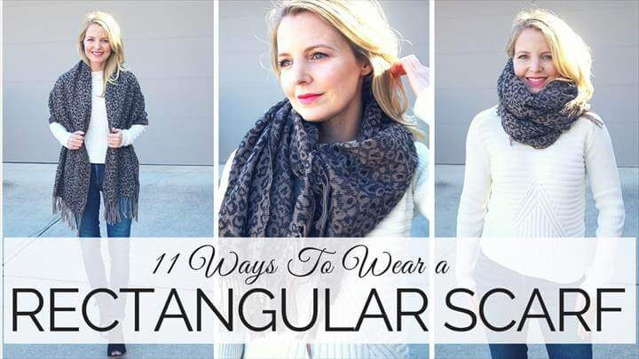 11 Ways To Wear a Rectangular Scarf