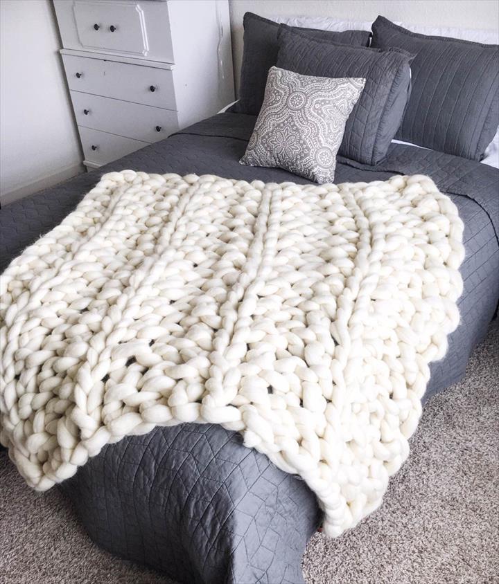 Arm Knit Blanket Patterns