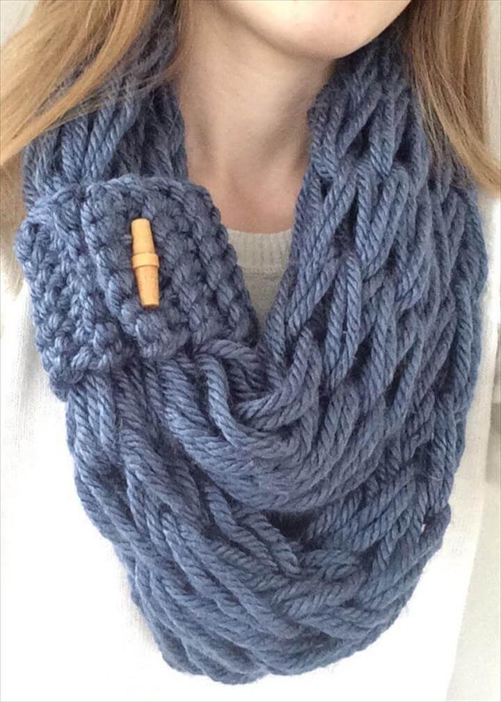 Arm Knit Pattern, Arm Knit Scarf