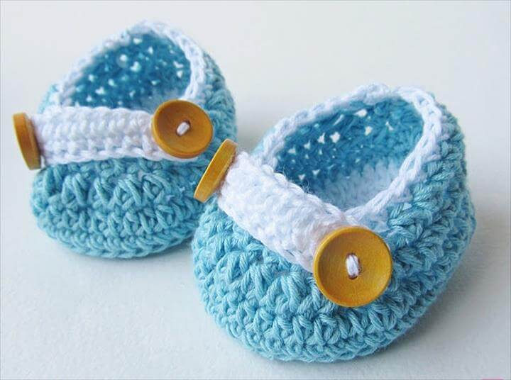 Baby Blue Crochet Baby Shoes