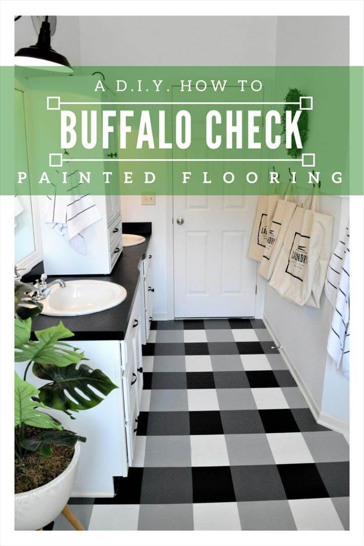 Buffalo Check Painted Floor; A DIY Guide