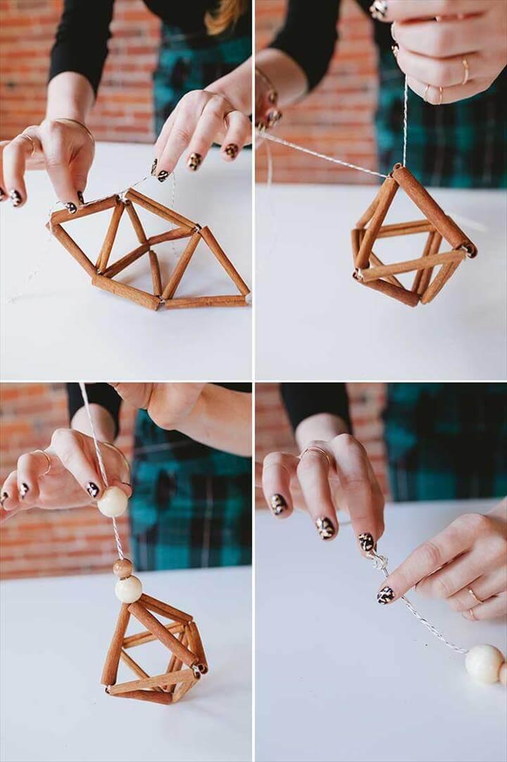 DIY cinnamon stick himmeli