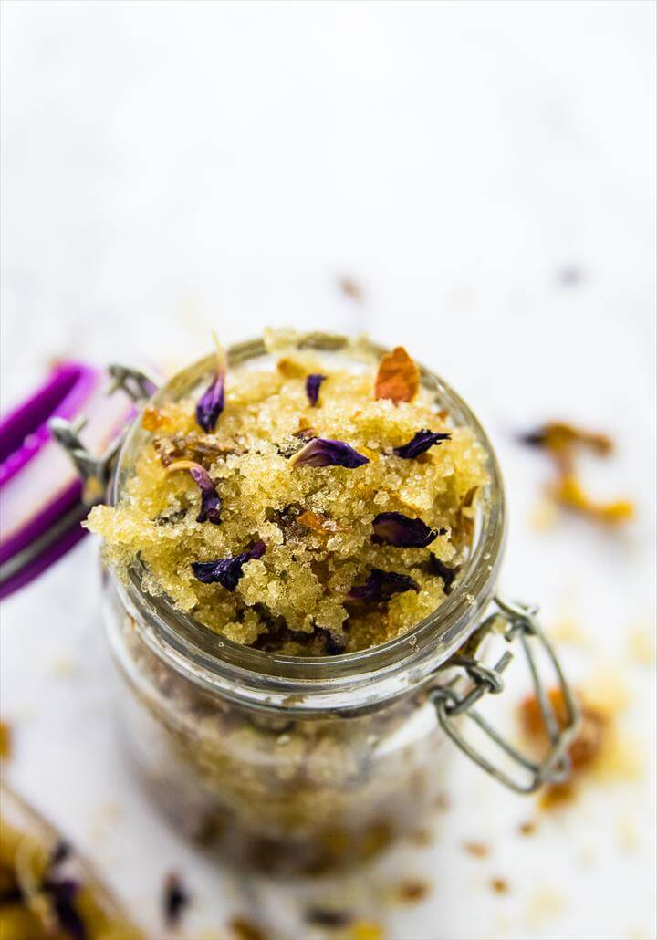 DIY: Easy 3-Ingredient Coconut Rose Sugar Scrub