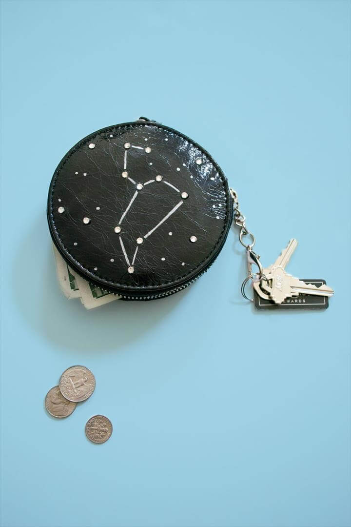 Coin Purse DIY Leo Constellation