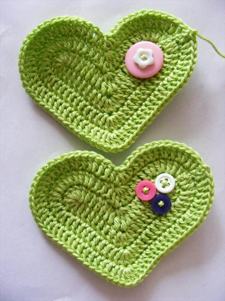 Crochet 3D Heart free pattern