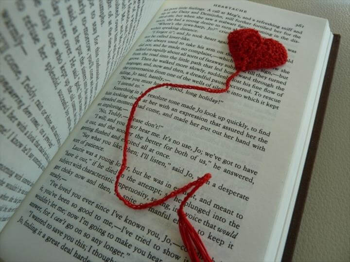 bookmark yourself tinker creative crochet red heart
