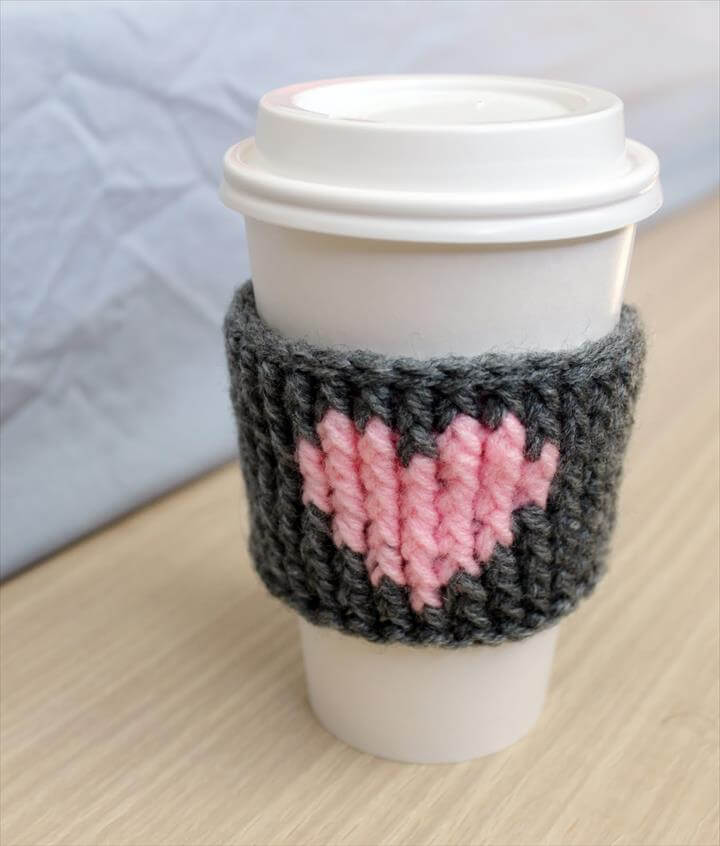 Crochet Heart Coffee Cozy Teacher Gifts Once Upon A Cheerio Interesting Ideas