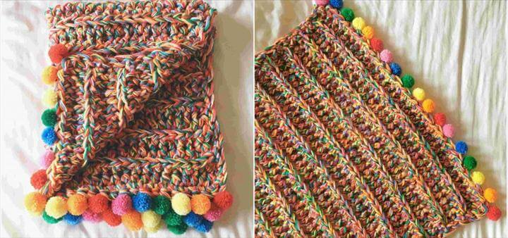 Super Chunky Rainbow Blanket