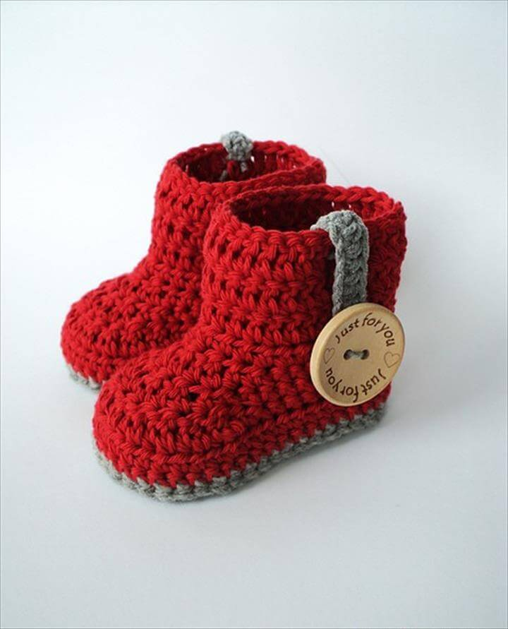 Free And Easy Crochet Baby Booties Patterns