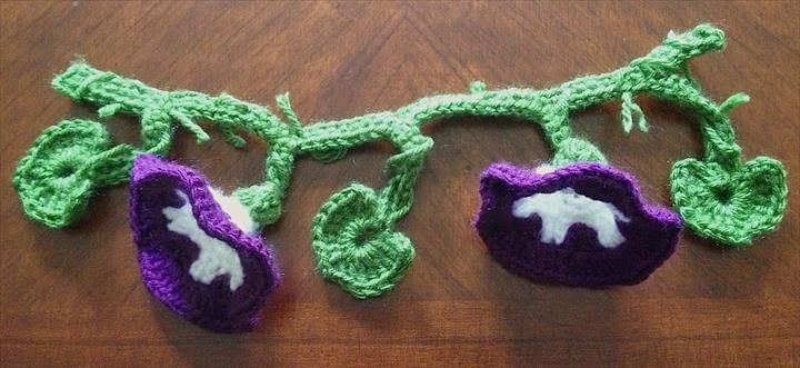 Crochet Morning Glory Garland