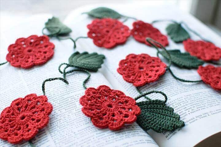 Crochet Garland Crochet flower garland