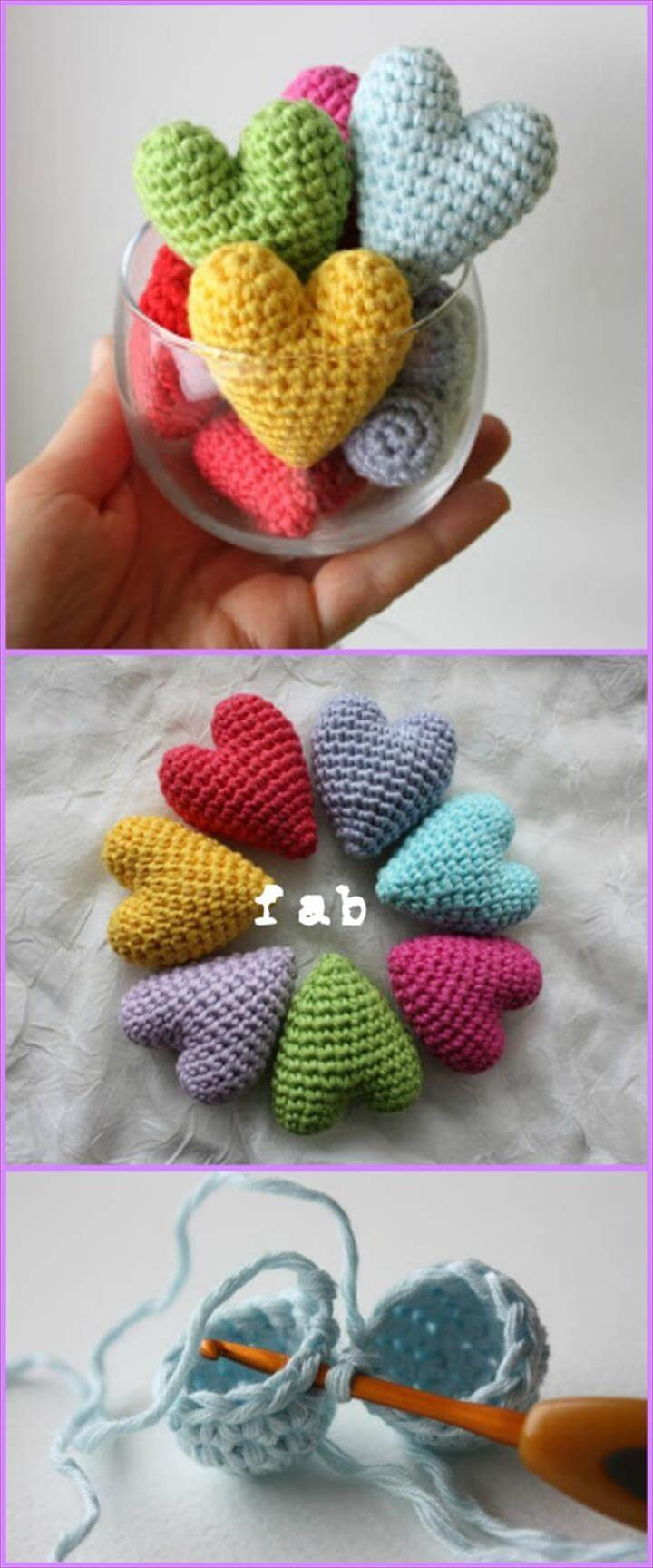 Crochet Heart Amigurumi Free Patterns