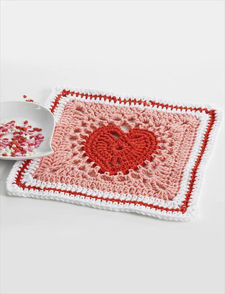 Heart Dishcloth: Crochet Version pattern