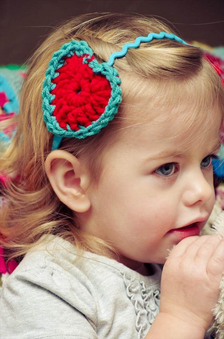 heart headband, fashion, crochet headband