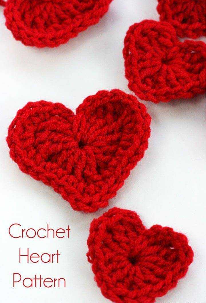 crochet, crochet heart, crochet heart pattern
