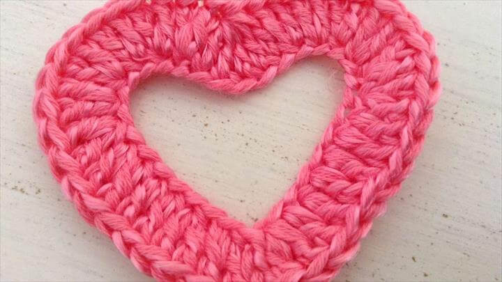 Crochet Heart To Apply On Clothes - DIY Crafts Tutorial