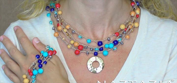 Crochet with Beads - Make Bead Necklace Bracelet Jewelry Chain Stitc