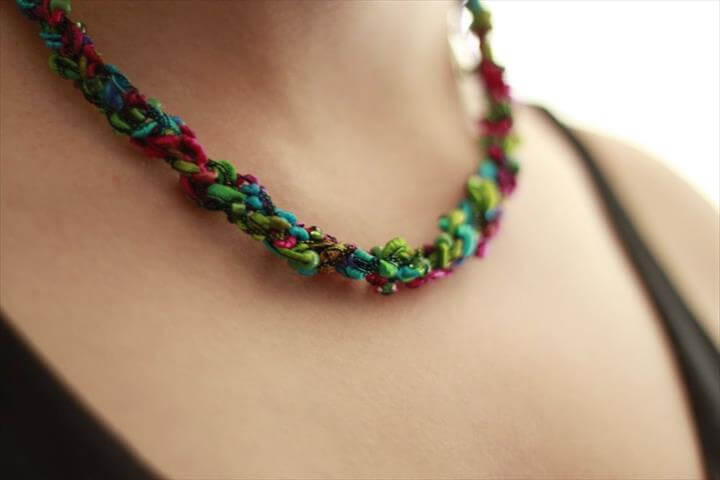 Crocheted Necklace, fashion, fashion ideas