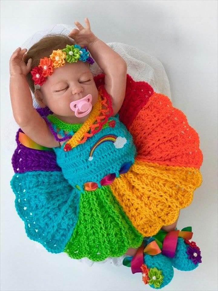 Child Costume Child crochet patterns Rainbow