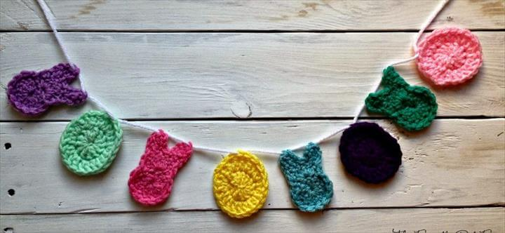 Free Bunny and Easter Egg Crochet garland
