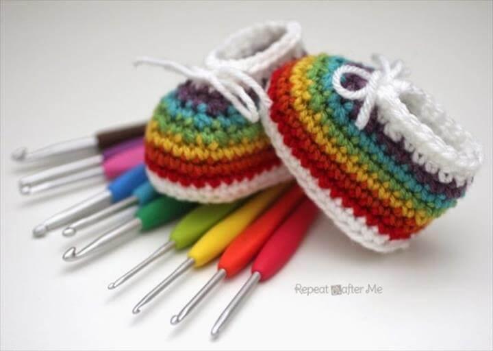 Crochet Baby Booties Pattern Ideas