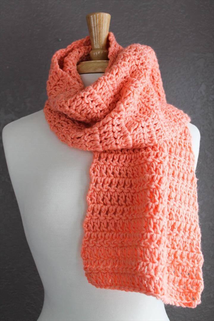 Crochet Scarf Pattern Using Double Crochet