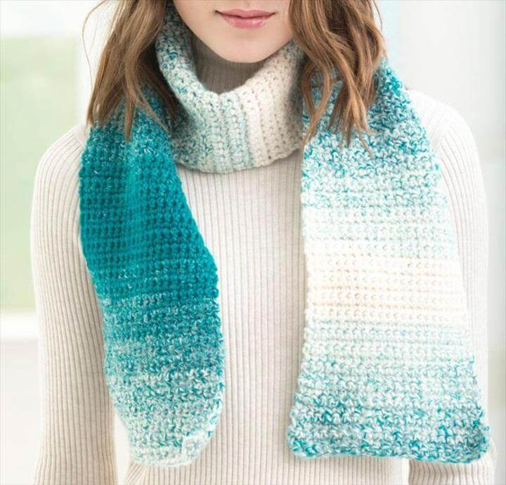 One Stitch Scarfie Scarf Crochet Kit