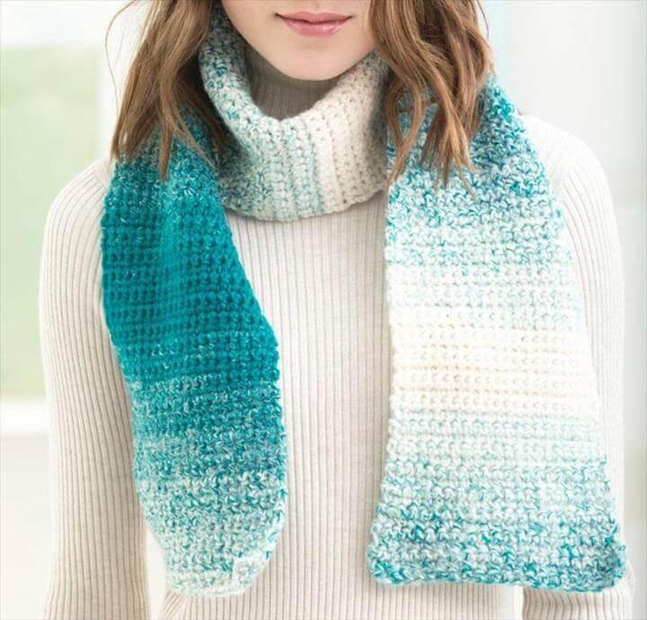 One Stitch Scarfie Scarf Crochet Kit