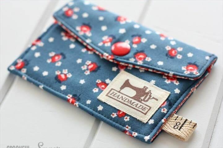 DIY business card wallet
